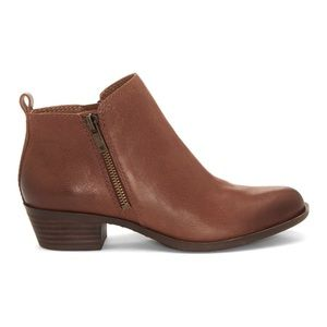 NEW Lucky Brand Basel Leather Ankle Booties